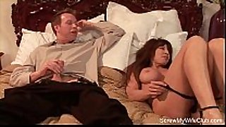 Redhead babe swinger copulates some other dude