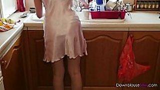 Jodie ellen - tea in my satin chemise - short t...