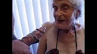 Granny 93 yo fuck juicy crack at fellow 35 yo