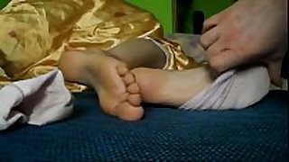 Slave take up with the tongue smelly feet