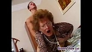 Hairygrannycatchesgrandsonjacking
