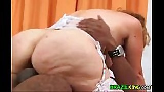 Fat grandma from brazil rides the dong