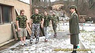 Military team fuck bukkake fuckfest