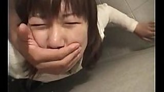 Jap teeny grabbed and nailed hard in her juicy crack i...