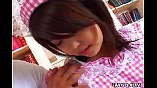 Lovely japanese maid screwed by her boss uncensored