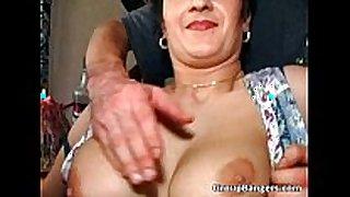 Old wet obscene cleft enjoys in great older