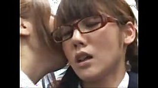 Japanese lesbian in public