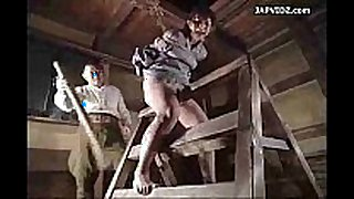 Asian legal age teenager extraordinary bondage act