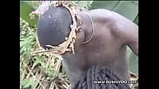 Real african dilettante fuck on the tree