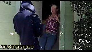Surprise sex sex ball batter in doorway