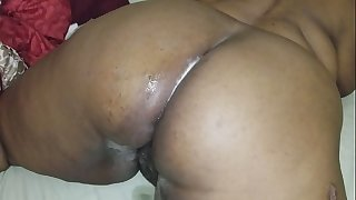I had to fuck my aunts large bulky butt and cum on it