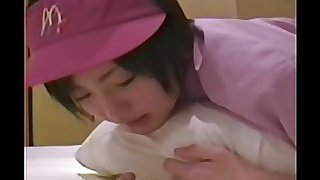 Japanese girl ( 18) with mcdonald's uniform 002