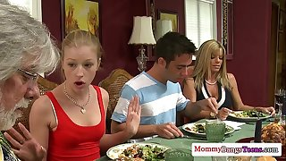 Glamour milf kristal summers helps legal age teenagers fuck