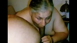 Granny Lynne Gets Face Fucked with the addition of a Mouthful of Cum