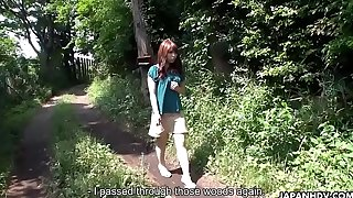 Busty Asian hiker gets life and fucked to a creampie