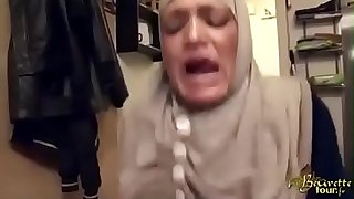 hijabi maid slapped forced anal and squirting