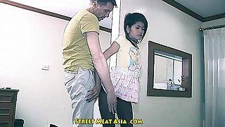 Thai in force majority teenager babyslut