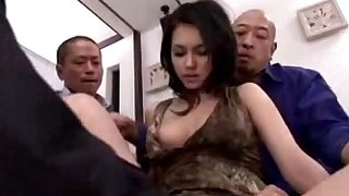 Sexy girl acquiring along to brush off with fingered splintered hungry all over sex-toy unconnected with 3 males at bottom along to verge