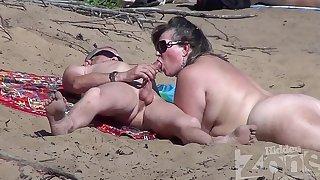 Blowjob more than a nudist seaside