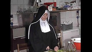 German nun fucked into ass to caboose