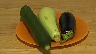 Organic anal masturbation with wide vegetables, extreme inserts in a juicy ass and a gaping hole.