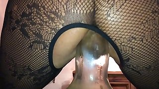 Extreme Anal - Homemade Girlfriend Dirty British Milf, Filmed on My i-phone Squatting on a Huge Bottle right up Her Arse