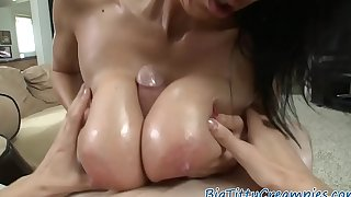 Outstanding milf titfucking and dicksucking