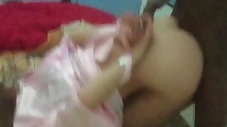 Abusing young wife while husband at work