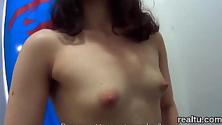 Luscious czech kitten is teased in the shopping centre and rode in pov