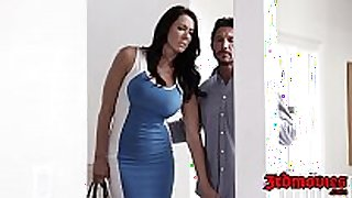 Two busty whores mia li and reagan foxx share ...