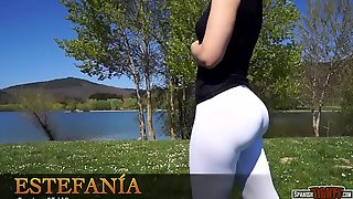 A perfect cameltoe from Spanish hot girl