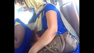 Blue Dress Small Boobs2
